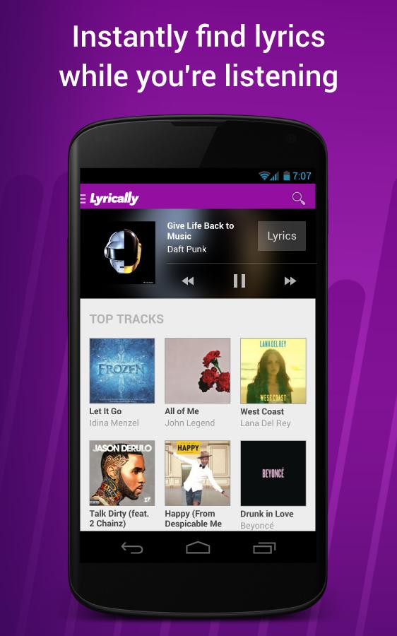 Lyrically - Music Lyrics - Android Apps on Google Play