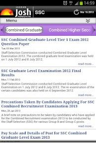 SSC Exam - Josh - screenshot thumbnail