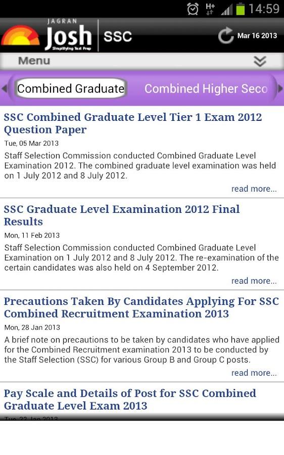 SSC Exam - Josh - screenshot
