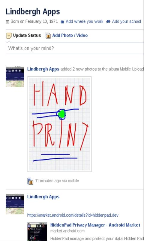 HandPrint Notepad- screenshot