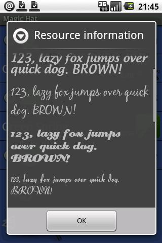 Ultra Mate Journal fonts x - screenshot