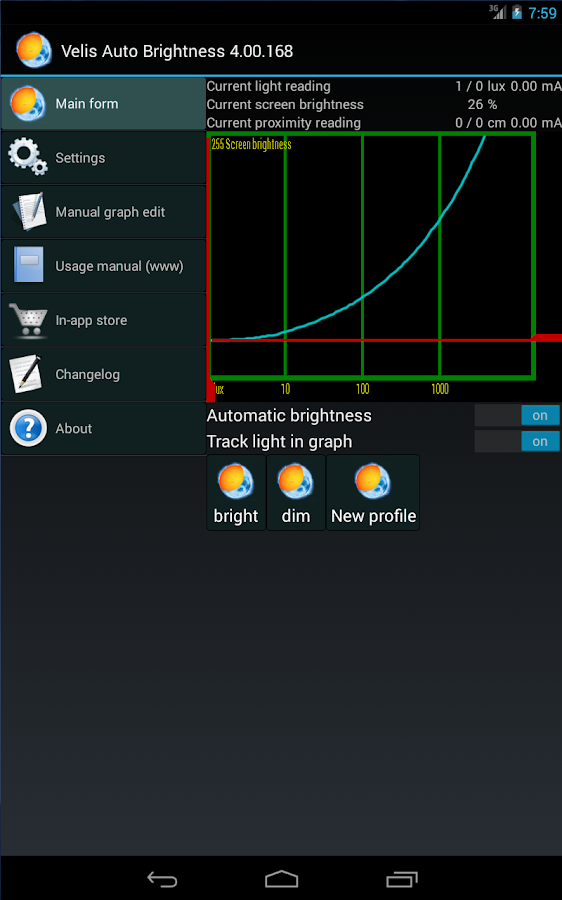 Velis Auto Brightness – Screenshot