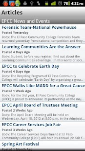 EPCC Mobile - screenshot thumbnail