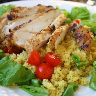Spiced Chicken with Couscous Salad.
