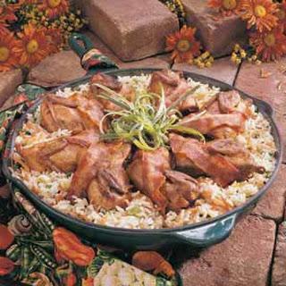 Quail With Rice.