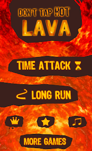 Don't Tap Hot Lava Tile