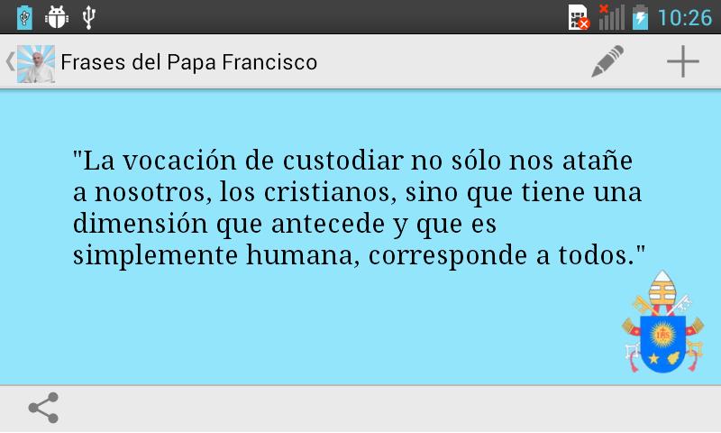 Frases del Papa Francisco - screenshot