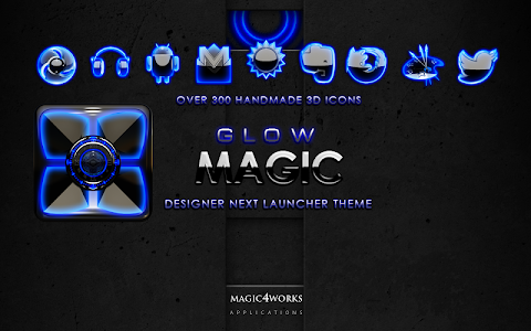 Next Launcher Theme Blue Glow v4.40 [440]