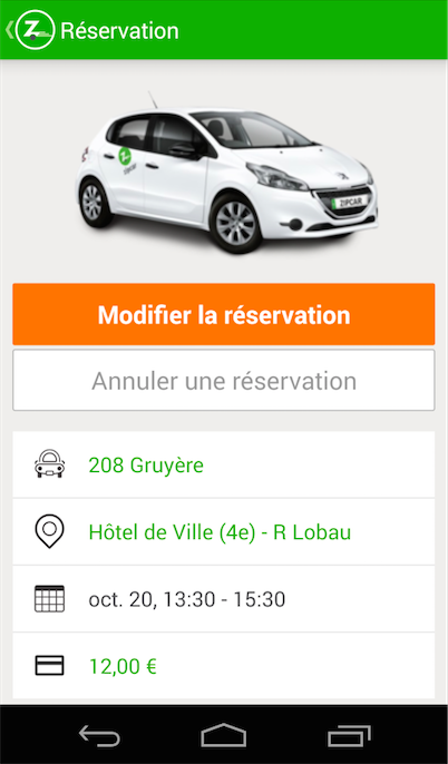 Zipcar – Capture d'écran