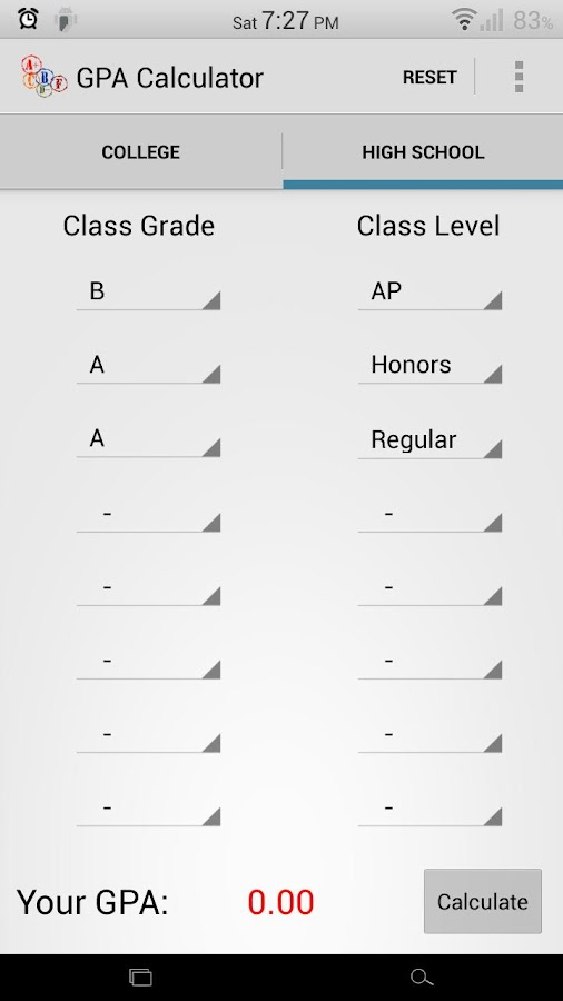 Gpa Calculator  Android Apps On Google Play