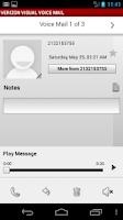 Screenshot of Visual Voice Mail Nexus