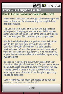 Conscious Thought Of The Day - screenshot thumbnail