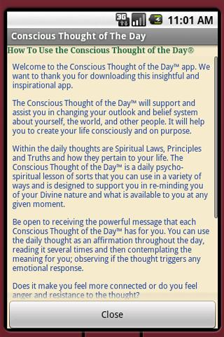 Conscious Thought Of The Day- screenshot