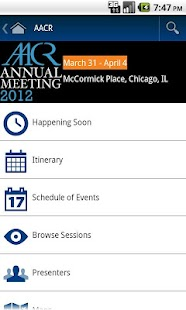 2012 AACR Annual Meeting App- screenshot thumbnail