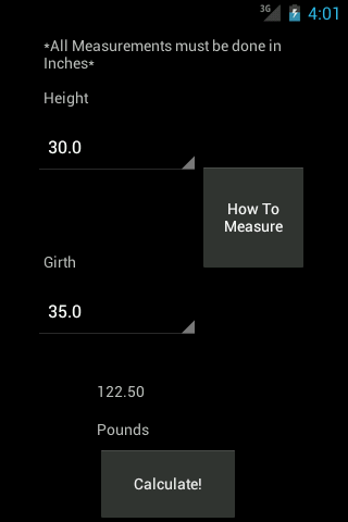 Goat Sheep Weight Calculator