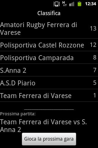 Rugby Manager (lite)- screenshot