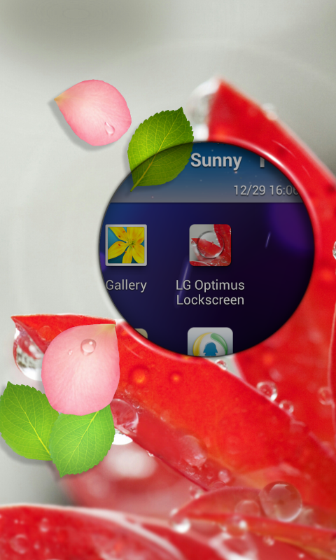 LG Optimus Lockscreen - screenshot