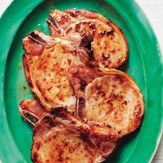 Bourbon-Glazed Smoked Pork Chops