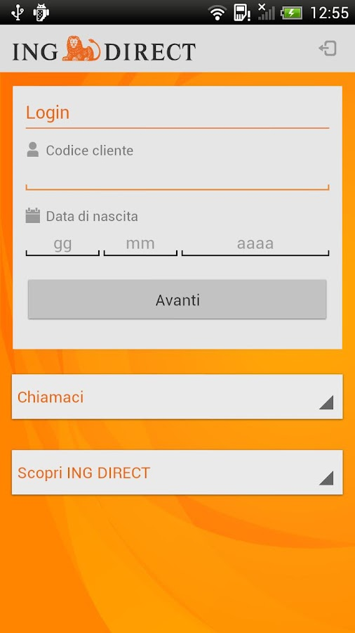 ING DIRECT Italia - screenshot