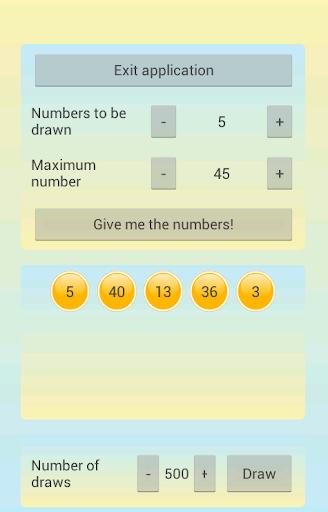 Random Lotto Numbers