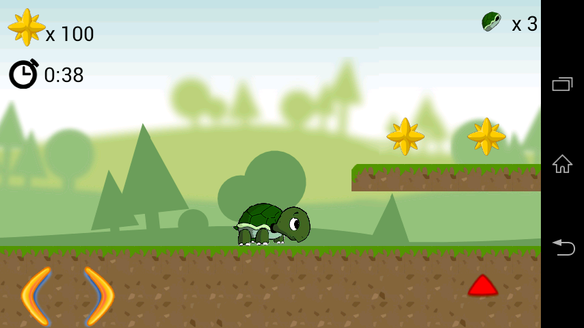 Turtle Slide Game - screenshot