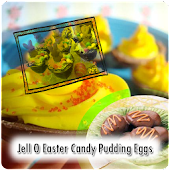 Easter Candy Pudding  Eggs