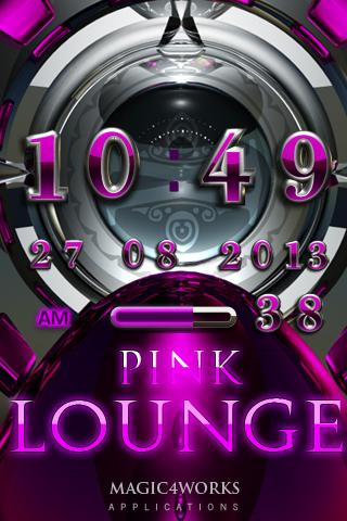 Pink Lounge Digital Clock