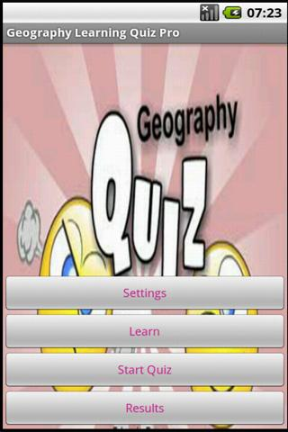 Geography Learning Quiz - screenshot