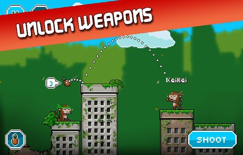 City Monkey: Pixel Artillery Screenshot 4