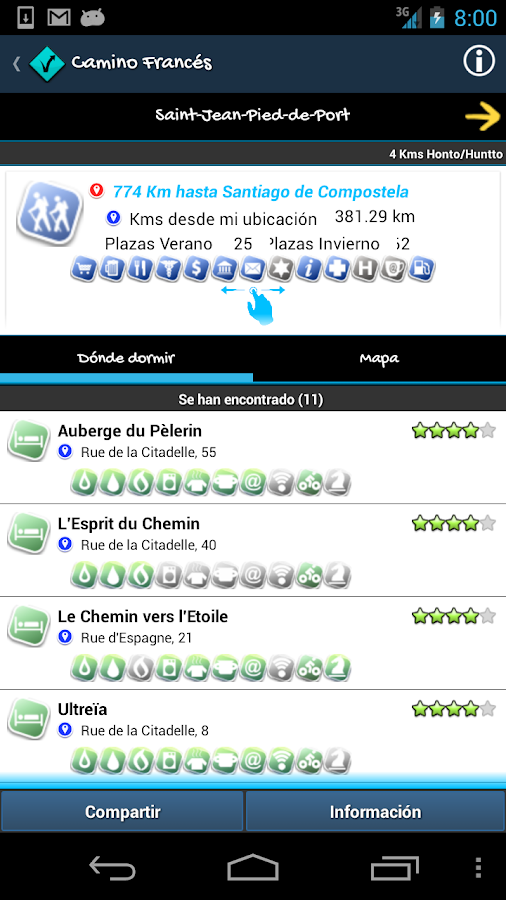 Camino de Santiago my mobile - screenshot