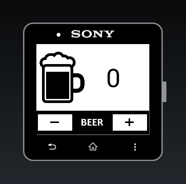 DrinkCounter for SmartWatch 2