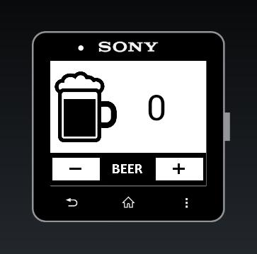 DrinkCounter for SmartWatch 2