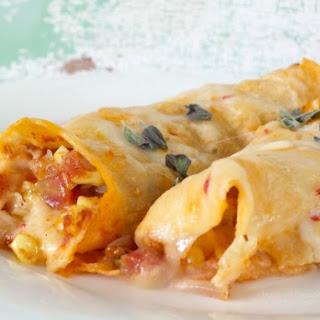Quick and Easy Chicken Enchiladas in Homemade Cream Sauce