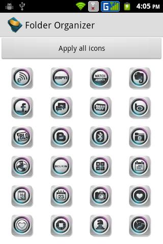 Folder Organizer Spaced Icons
