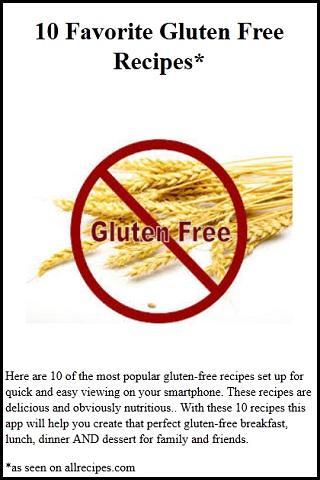 10 Gluten Free Diet Recipes