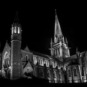 Bendigo Cathedreal by William Greenfield - Buildings & Architecture Places of Worship ( bendigo, wtgphotography, biulding, church, wtg photoart, australia, sacred heart cathedral, cathedral, night, 46-82 midland highway, bendigo vic 3550, william greenfield, vic, diocese of bendigo )