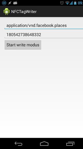 Custon NFC Tag Writer
