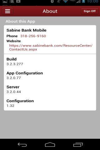Sabine Bank Mobile - screenshot