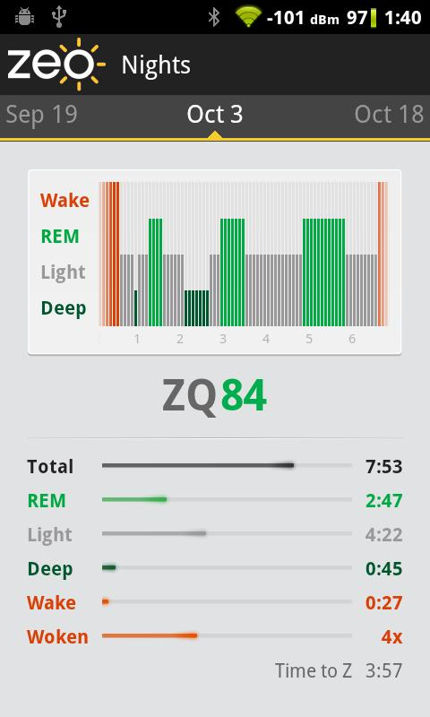 Zeo Sleep Manager- screenshot