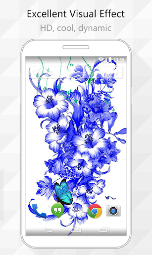 Blue and White Live Wallpaper