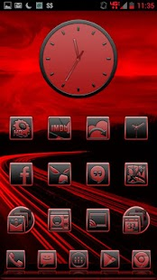 BigDX Serenity ADW Theme Red - screenshot thumbnail