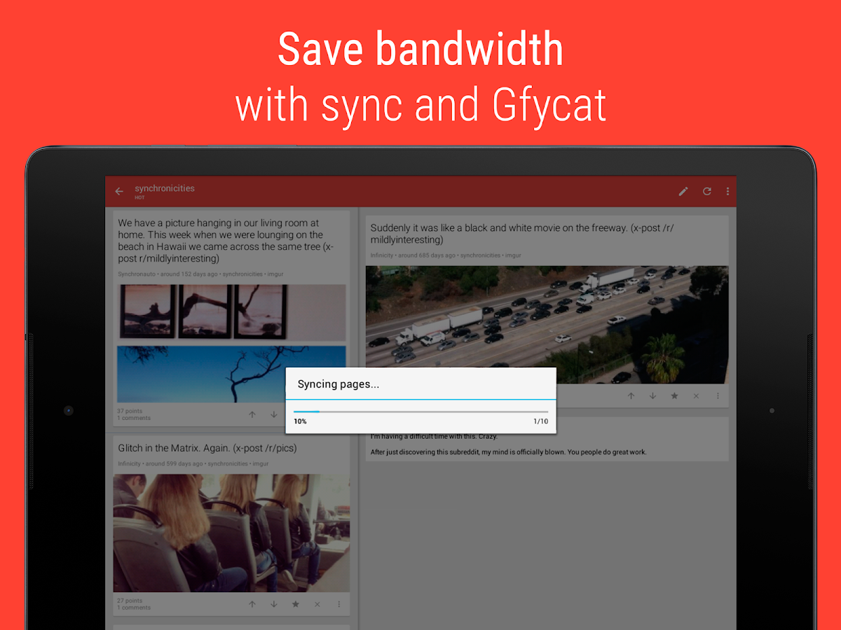 Sync for reddit - screenshot
