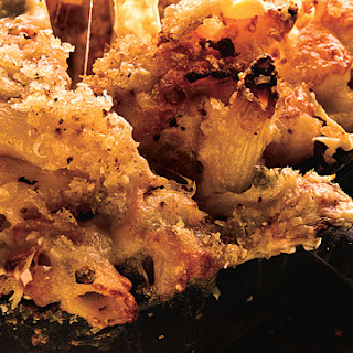 Cheesy Baked Penne with Cauliflower and Crème Fraîche.