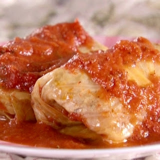 Stuffed Cabbages With Tomato Sauce
