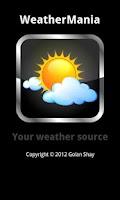 Screenshot of Weather forecast: Weathermania