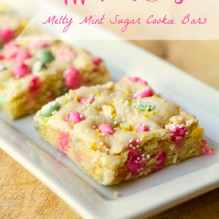 Mother's Day Melty Mint Sugar Cookie Bars