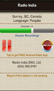 Radio India Surrey BC screenshot 0