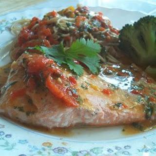 Red Pepper-Salmon Pasta.