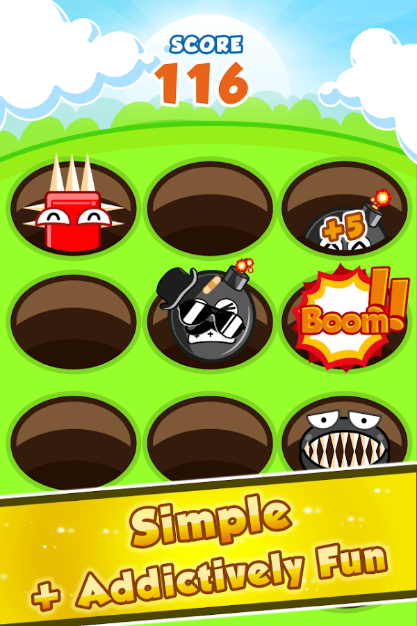 Super Bomb Smash: Whack-a-mole- screenshot