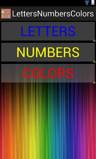 LETTERS NUMBERS COLORS